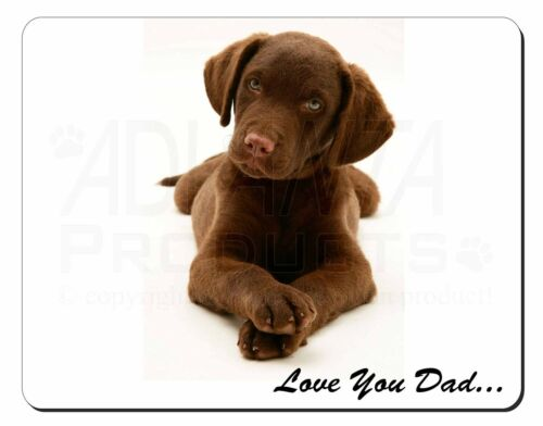 Chocolate Labrador /'Love You Dad/' Computer Mouse Mat Christmas Gift Ide DAD-66M