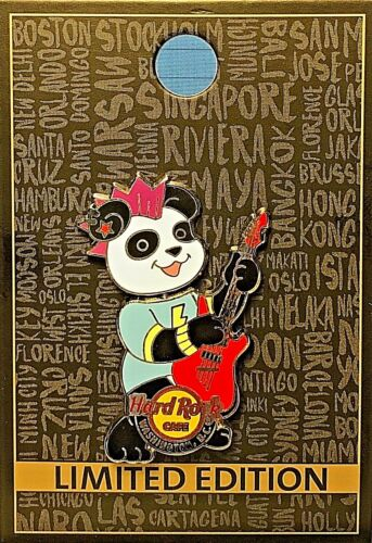 HRC Hard Rock Cafe Washington D.C. Panda Band Series # 2 Bobble 2016 Pin LE NEW