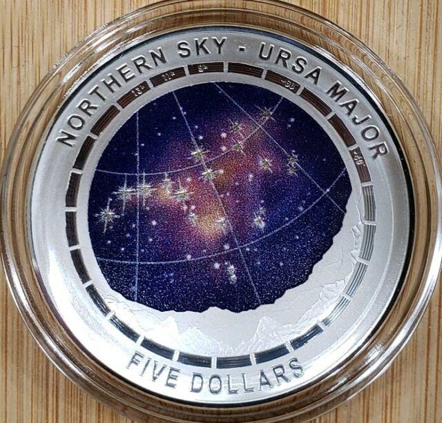 2016 Australia Silver $5 Color Domed Northern Sky Cygnus with Box /& COA