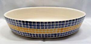 Los Angeles Pottery Laurie Gates Design 13 Oval Casserole Blue