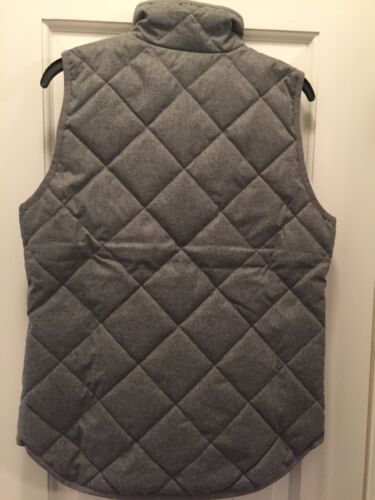 Crew JCrew Excursion Quilted Vest Flannel Gray Grey Large Details about  /NWT J