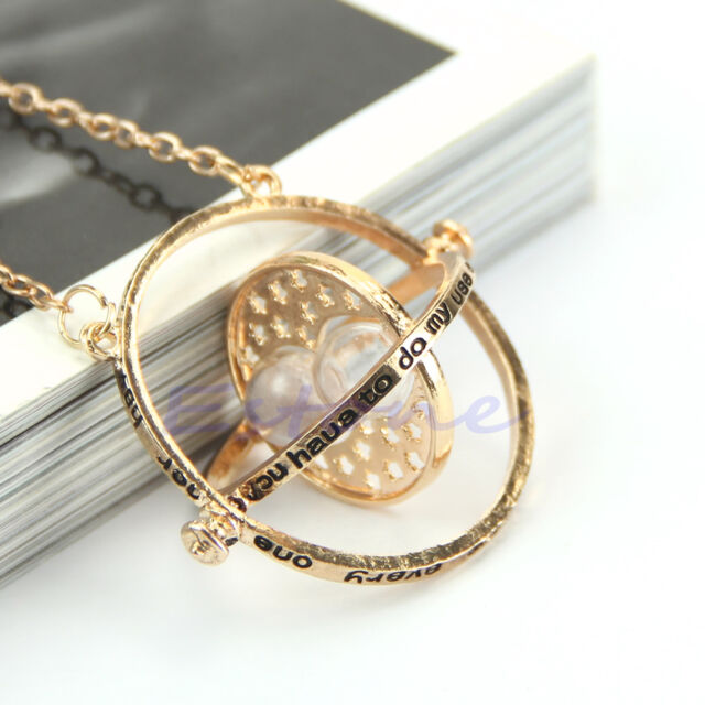Time Turner Necklace Hermione Granger Rotating Hourglass Pendant