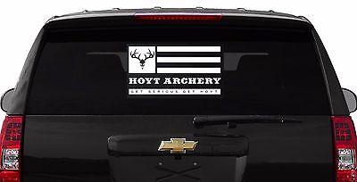 LARGE RACKAHOLIC DEER Hunting ARCHERY Bow Arrow Gun Truck SUV DECAL STICKER WALL