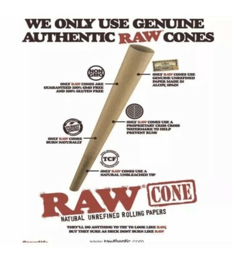 200 pack raw classic LEAN size pre-rolled cone WITH filter tip