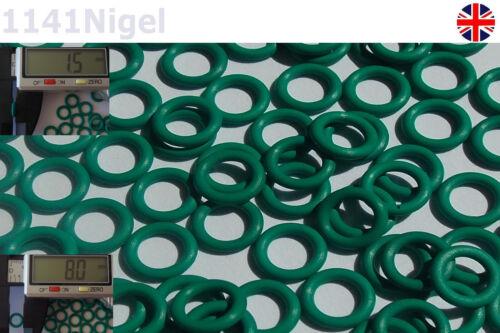 8mm OD 1.5mm CS Metric O Rings Seal FKM Sealing O-rings Washers Packs of 1-10