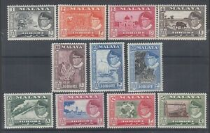 Malaya-Johore-Sc-158-168-MNH-1960-Pictorials-complete-set-VF-appearing