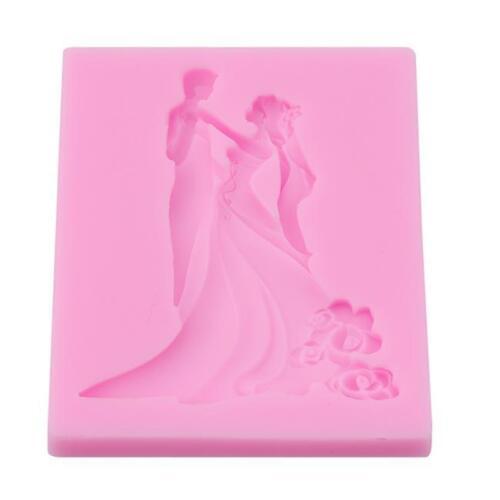 Couples Mold Silicone Fondant Mould Cake Decorating Sugar Craft Baking Tools CO