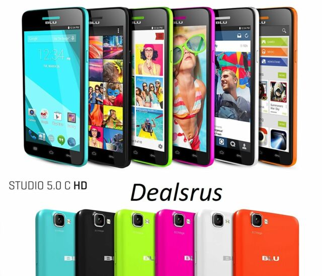 BLU Studio 5.0 C HD - 8GB 8MP 4G Dual Sim Android Unlocked GSM D535U