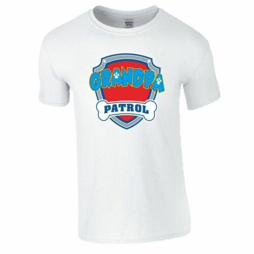 Grandpa Patrol T-Shirt Paw Patrol Family Birthday Gift Fathers Day Dad Mens Top
