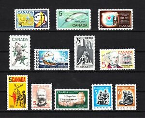 Canada 1968 = Complete Year Collection = UNITRADE 478-489 MNH
