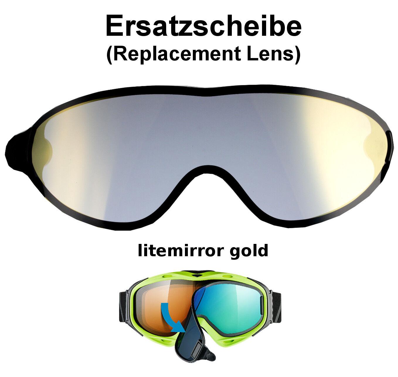 Uvex Comanche take off Ersatzscheibe Farbe Scheibe Gold Skibrille Goggle Brille  | Exquisite (mittlere) Verarbeitung