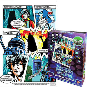 NEW IN BOX Doctor Who - Retro Style Comic Book 1000 Piece Jigsaw Puzzle - 4th Dr