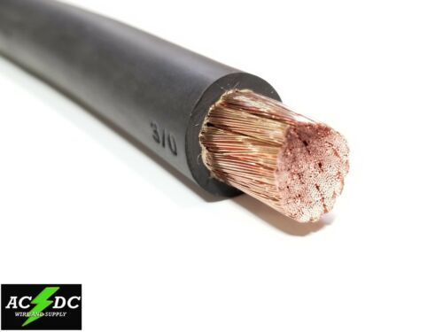 WELDING CABLE 3//0 BLACK 100 FT BATTERY LEADS USA NEW Gauge Copper AWG 600V SAE
