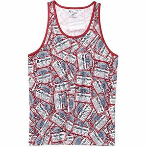 206d064cad3d4 Budweiser Beer Tank top Shirt Sleeveless S M L XL XXL 2XL Frat Party ...