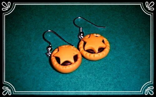 ** Mince Pie earrings Handmade Christmas stocking filler fimo  **