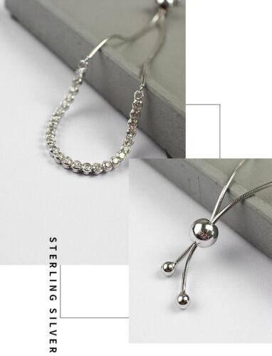 Damen Armband echt Sterling Silber 925 Zirkonia  8-22 cm verstellbar