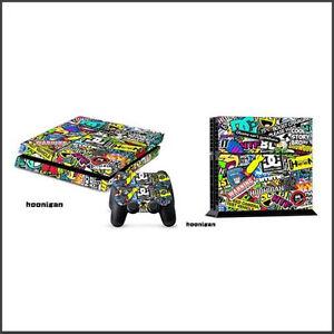 Playstation-4-PS4-Skin-Vinyl-Design-Folie-Aufkleber-Schutz-Sticker-hoonigan