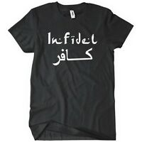 INFIDEL T-Shirt Funny Military Army TEE USMC Sniper Rifle Marine Major League In