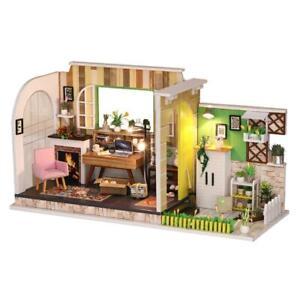 Wooden-DIY-Dollhouse-Kit-1-24-Scale-Studio-for-Valentine-039-s-Day-Birthday-Gift