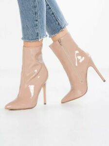 08606605e223 Image is loading Steve-Madden-Wagner-Blush-Patent-High-Heel-Booties-