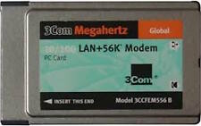 3COM Megahertz® 10/100 LAN+56K* Modem CardBus PC Card 100 Mbps RELIABLE LAN NEW