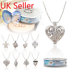 1 Set Luxury Womens Fashion Love Wish Real Pearl Necklace Oyster Drop Pendant
