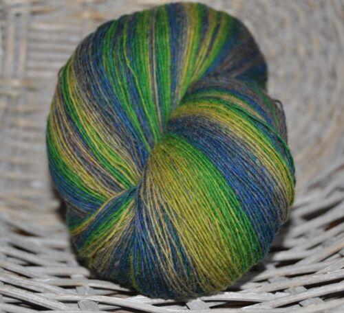 100/% Schurwolle Tücherwolle Schafwolle Wolle Lace Strickgarn handgefärbt *892*
