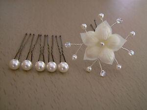 51e427942cb Lot Pic accessoire Cheveux chignon Mariée Mariage couleur Ivoire ...