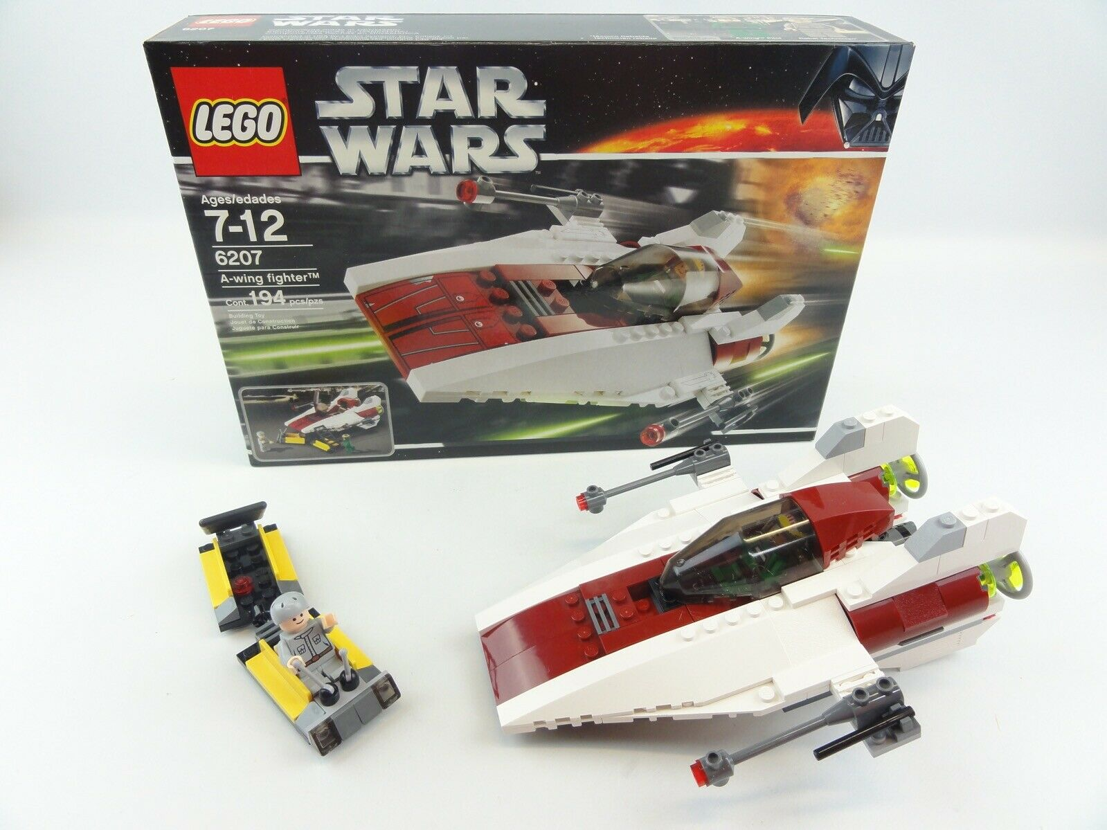 Lego Star Wars A-Wing Fighter 100% COMPLETE Set Manual+Box Manual+Box Manual+Box Included 78b53d