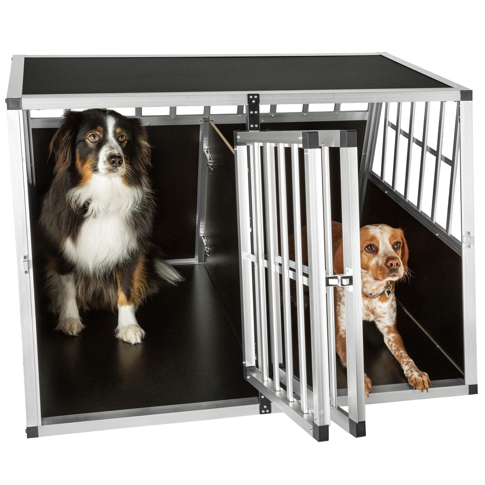 XXL Alu Doppel Hundebox mit Trennwand Transportbox Hundetransportbox B-Ware B-Ware B-Ware 07f578