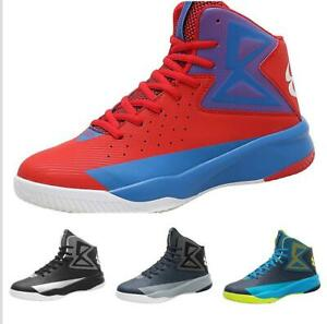 Casuals-Shoes-Men-Basketball-Sport-Sneaker-High-Top-Athletic-Lace-up-Breathable