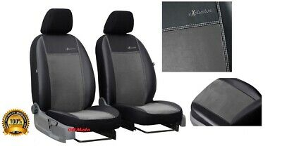 Mk7 Universal Black Eco-Leather Full Set Car Seat Covers fit Toyota Hilux Mk6