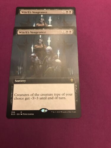 Witch's Vengence X 1 Extended Art Non Foil Throne Of Eldraine Pack Fresh MTG
