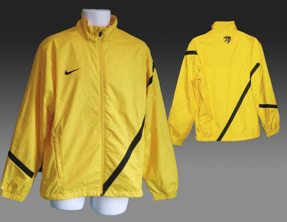 Nouveau Nike Rester Au Chaud Football Survêtement Vestes Jaune Ourlet Noir M