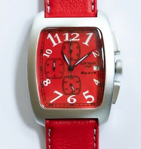 LOCMAN-SPORT-RED-CHRONOGRAPH-WATCH-Model-487-Made-in-Italy-NEW-in-Box
