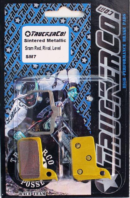 4 Prs DiscoBrakes SRAM Level Red Disc Brake Pads Rival Force CX1 Apex SemiMetal
