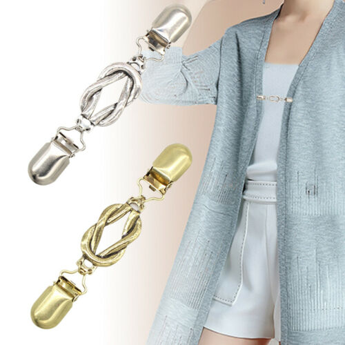 1pc Women Cardigan Sweater Blouse Pin Shawl Brooch Clips Scarf Clasp Accessories