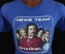 Anchorman Channel 4 Paramount Movie Blue Graphic T Shirt 100% Cotton XL