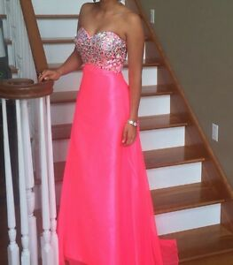 Details about Pink prom dress size 0