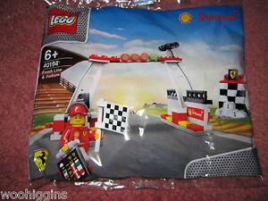 LEGO-SHELL-V-POWER-FERRARI-FINISH-LINE-amp-PODIUM-40194-NEW-SEALED