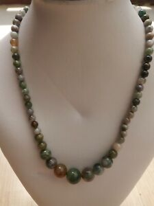 New-6-14mm-Multicolor-jade-Round-Gemstone-Beads-Necklace-18