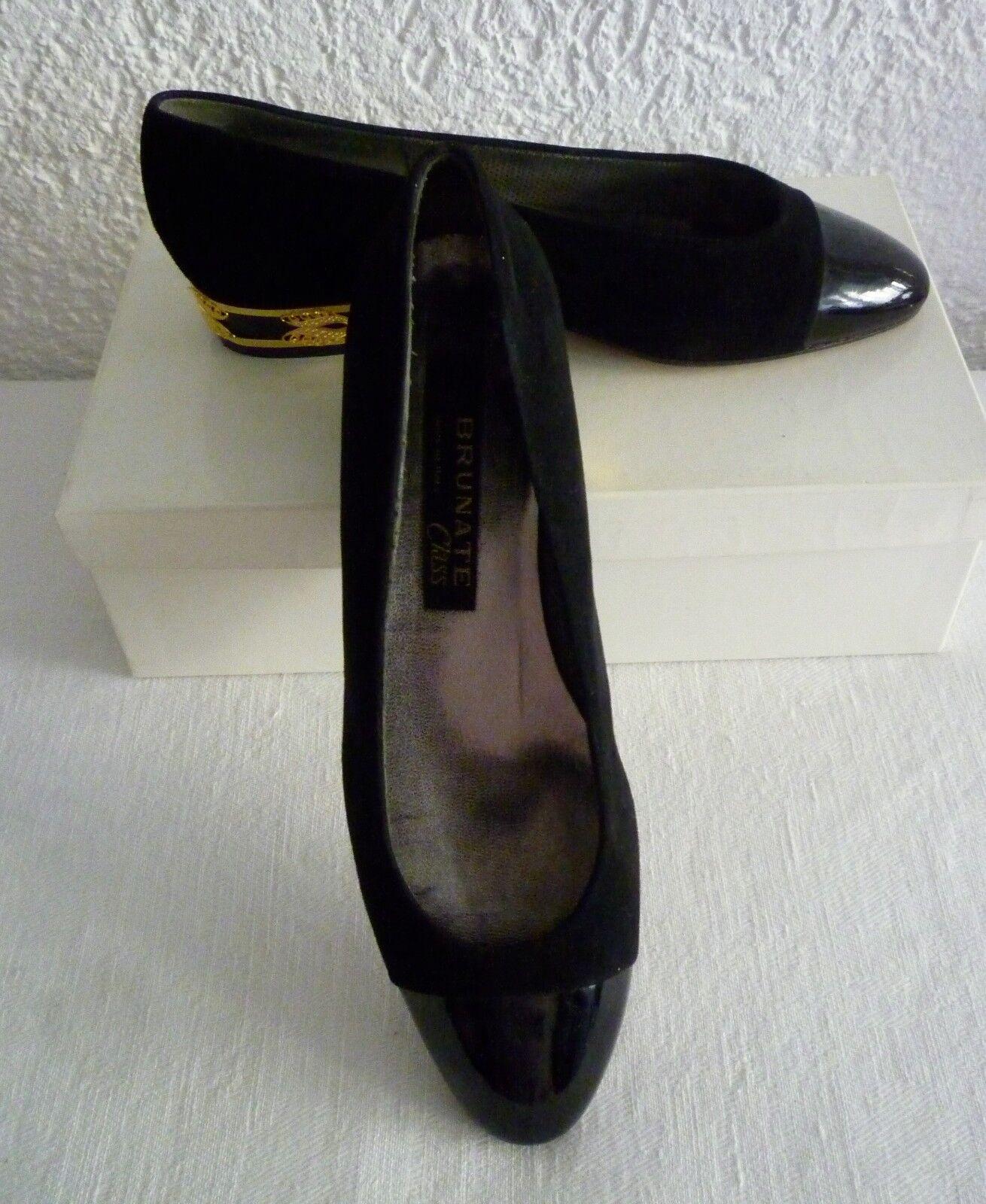 Elegante BRUNATE Schuhe Slipper Ballerinas schwarz Gr. Gr. schwarz 37,5 f6b3f5