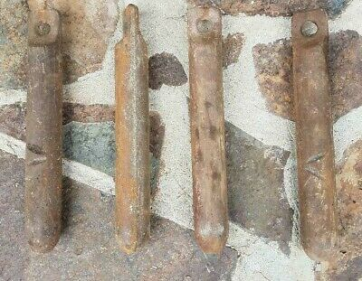 6 pounds Industrial Salvage Vintage 4 Lister Old Cast Iron Window Weights