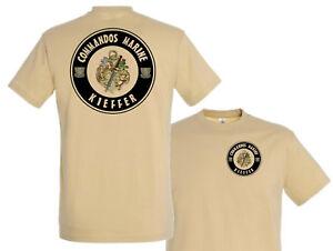 "SystéMatique T Shirt "" Commandos Marine - Kieffer "" K9 Drone Déminage Nrbc Cos Tshirt 1944"