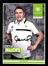 Klaus Allofs Autogrammkarte VFL Wolfsburg 2013-14 Original Signiert +A 59367