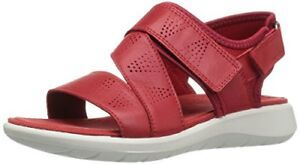 12cd0373b3a5 ECCO Womens Soft 5 Cross Strap Flat Sandal  8-- Pick SZ Color.