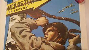 Rare-1970-USSR-SOVIET-RUSSIA-RUSSIAN-VINTAGE-POSTER-MILITARY-War-PROPAGANDA-WW2