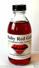 colloidal gold Ruby Red Gold 45ppm 200ml non ionic nano ormus brain memory boost