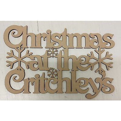 Christmas at the 'Surname' plaque