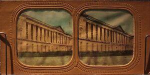 Museo-Del-Louvre-Parigi-Francia-Foto-Diorama-Stereo-Vintage-Albumina-Ca-1865